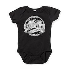 Mammoth Mtn Old Circle Black Baby Bodysuit