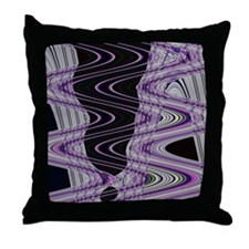 Purple Black Abstract Art  Throw Pillow