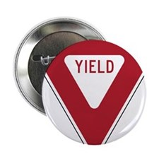 "Yield Sign 2.25"" Button"