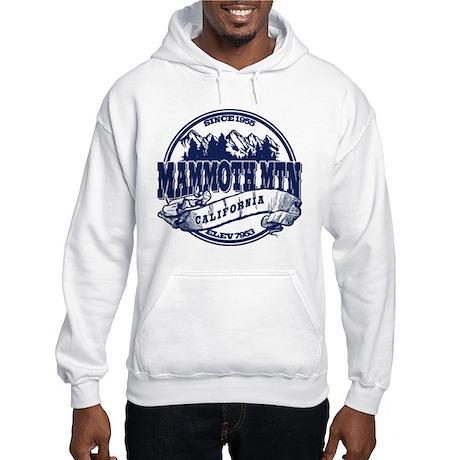 Mammoth Mtn Old Circle Blue Hooded Sweatshirt