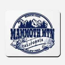 Mammoth Mtn Old Circle Blue Mousepad