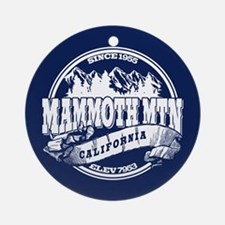 Mammoth Mtn Old Circle Blue Ornament (Round)