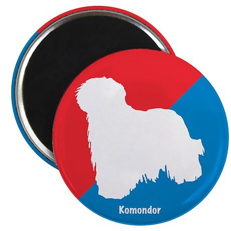 """Komondor Diagonal 2.25"""" Magnet (100 pack)"""