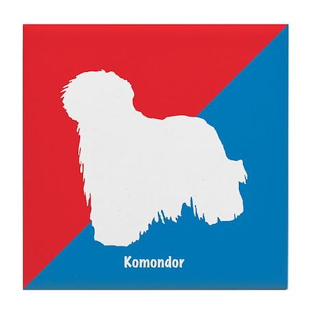 Komondor Diagonal Tile Coaster