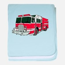 Red Fire Truck baby blanket