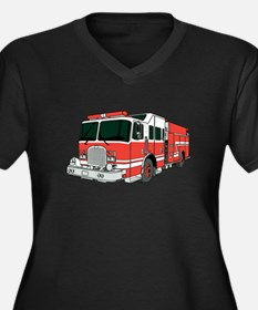 Red Fire Truck Plus Size T-Shirt