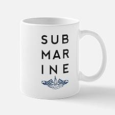 Submarine Stacked with Dolphins Mug