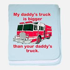 My Daddys Truck baby blanket