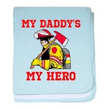 My Daddys My Hero baby blanket