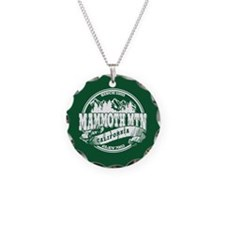 Mammoth Mtn Old Circle Green Necklace