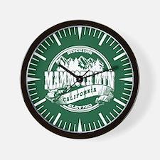 Mammoth Mtn Old Circle Green Wall Clock