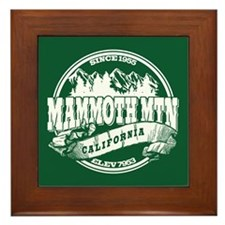 Mammoth Mtn Old Circle Green Framed Tile