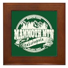 Mammoth Mtn Old Circle Green Framed Tile