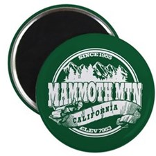 Mammoth Mtn Old Circle Green Magnet
