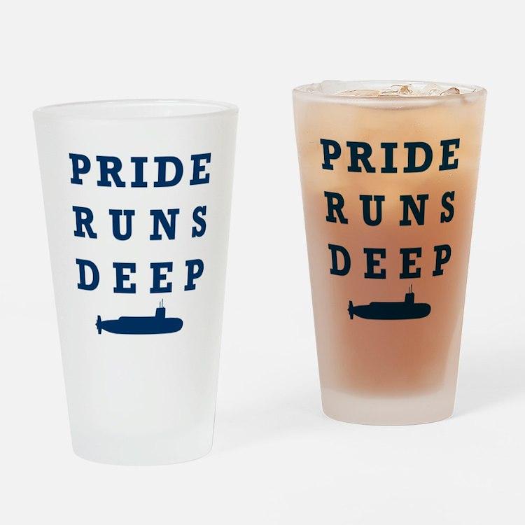 Pride Runs Deep with Submarine Drinking Glass