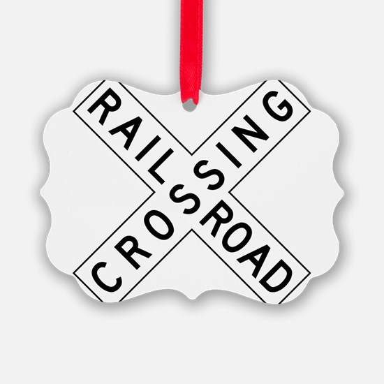 Rail Road Crossing Ornament