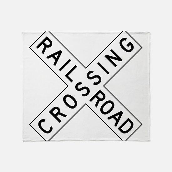 Rail Road Crossing Throw Blanket