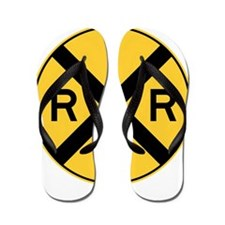 Rail Road Crossing Flip Flops
