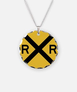 Rail Road Crossing Necklace