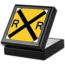 Rail Road Crossing Keepsake Box