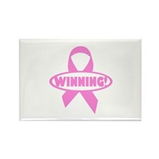 Winning Against Cancer Rectangle Magnet (10 pack)