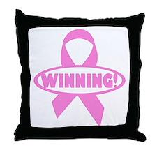 Winning Against Cancer Throw Pillow