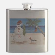 Christmas Beach Sandman Flask