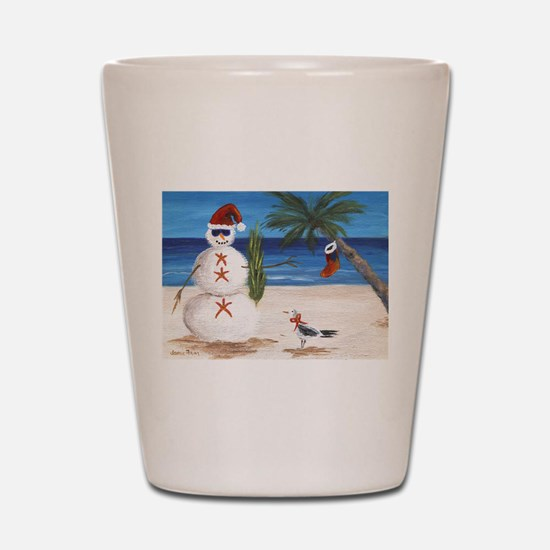 Christmas Beach Sandman Shot Glass