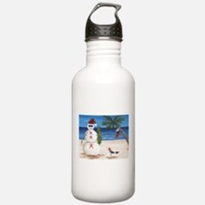 Christmas Beach Sandman Water Bottle