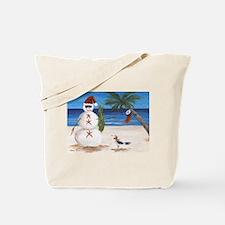 Christmas Beach Sandman Tote Bag