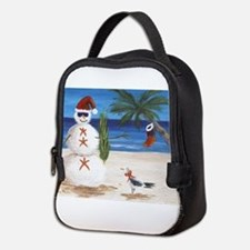 Christmas Beach Sandman Neoprene Lunch Bag