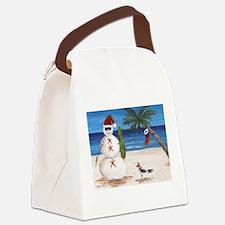 Christmas Beach Sandman Canvas Lunch Bag