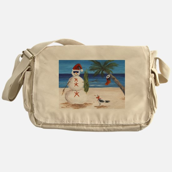 Christmas Beach Sandman Messenger Bag