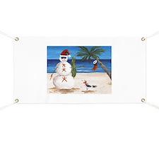 Christmas Beach Sandman Banner