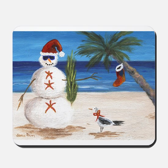 Christmas Beach Sandman Mousepad