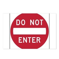 Do Not Enter Postcards (Package of 8)