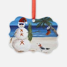 Christmas Beach Sandman Ornament