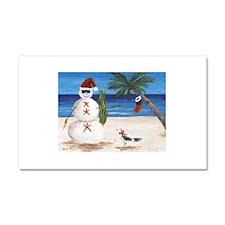 Christmas Beach Sandman Car Magnet 20 x 12