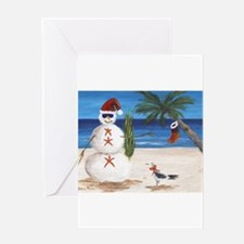 Christmas Beach Sandman Greeting Cards