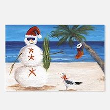 Christmas Beach Sandman Postcards (Package of 8)
