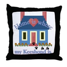 Keeshond Gifts Throw Pillow