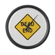 Dead End Large Wall Clock