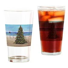 Christmas Beachy Tree Drinking Glass