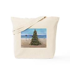 Christmas Beachy Tree Tote Bag