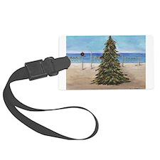 Christmas Beachy Tree Luggage Tag