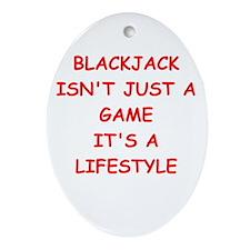 BLACKJACK Ornament (Oval)