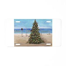 Christmas Beachy Tree Aluminum License Plate