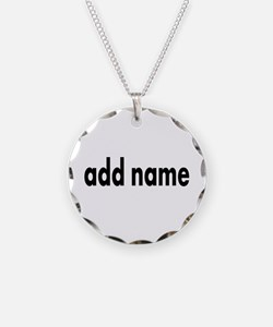 Add Text Font Modern Necklace