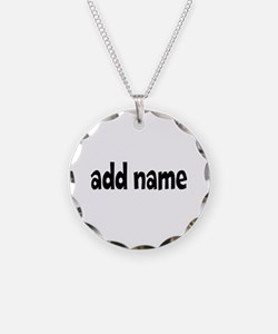 Add Text Font Funky Necklace