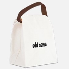 Add Text Font Funky Canvas Lunch Bag